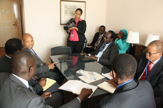Minister of Finance Hon William Mgimwa revealing different aspects of during press interview LIBRARY-PHOTO